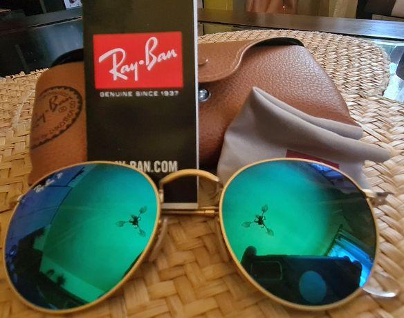 Okulary Ray-Ban Round Flash Lenses