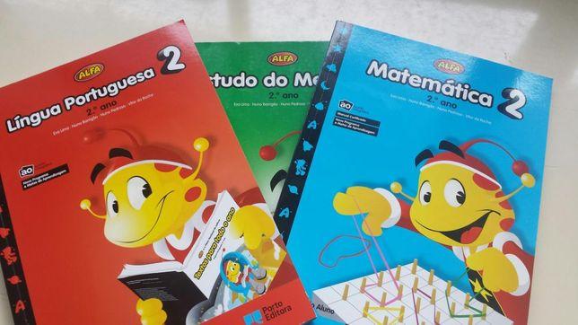 Livro escolar Alfa - 1 ano e 4ano Mat, E.Meio e Pt. MANUAIS E FICHAS