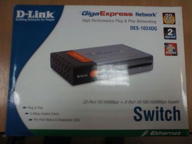Коммутатор (свитч switch) D-Link DES-1024DG