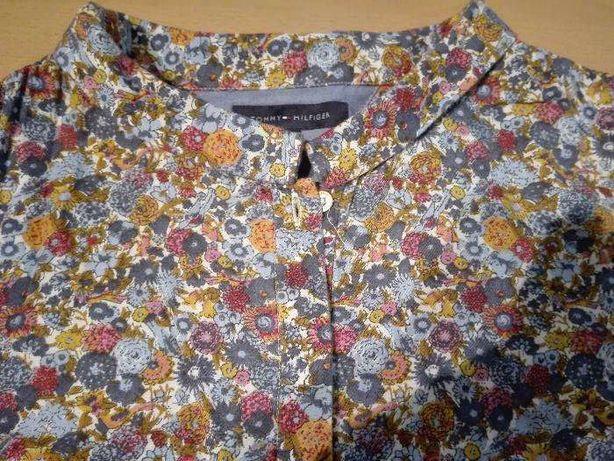 Camisa de algodão Tommy Hilfigher T 14 de flores