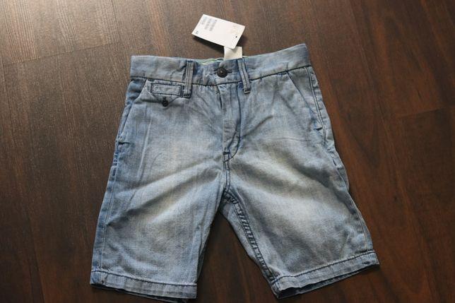 Krótkie spodenki jeansowe H&M roz. 122