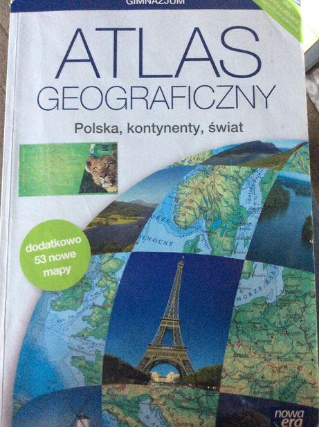 Atlas geograficzny. Polska, kontynenty, świat.