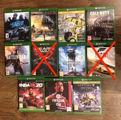 Низкие цены: xbox one Fifa, Assassins, Battlefield, NFS, NBA, CoD