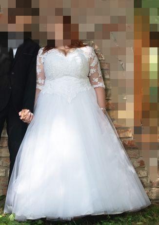 Suknia ślubna 48-50-52 duży biust