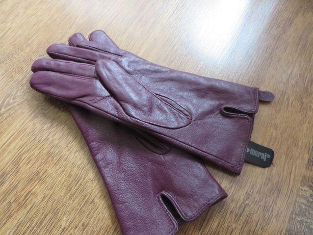 rękawiczki skórzane damskie Moraj