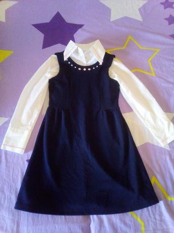 Школьная форма (юбка, сарафан, 2 блузки) на 1 класс