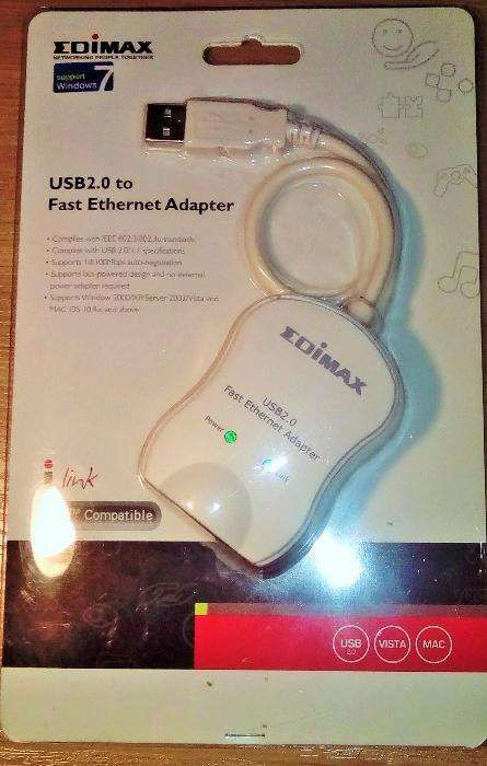 USB 2.0 to Fast Ethernet Adapter EDIMAX Miastko - image 1