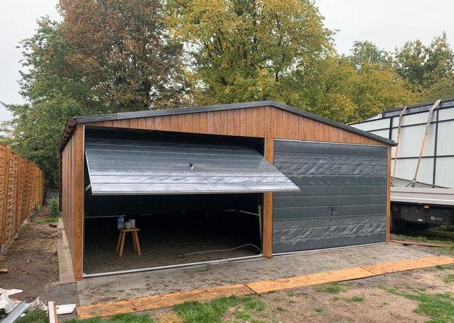 garaż blaszany 6x5 garaze blaszane blaszak wiata dwustanowiskowy