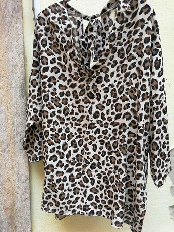 Túnica XL padrão leopardo Nova
