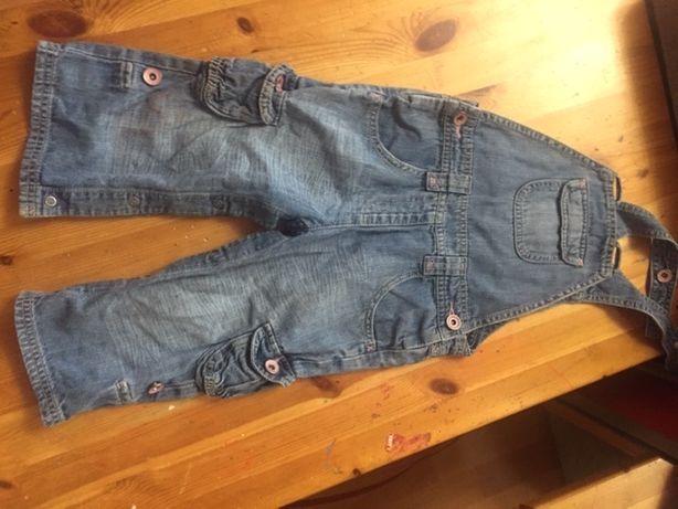 Комбинезон джинсовый 1.5-2 года для девочек