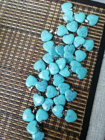Serduszka 40 szt. zawieszki do biżuterii handmade wisiorki, breloczki
