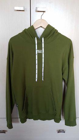 Bluza NNJL Mirror Hodie green, rozmar S [oversize]
