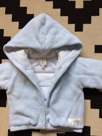 Cieply sweterek bluza Junior J 0-3m-cy
