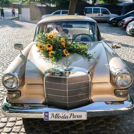 Auta zabytkowe, retro do ślubu, oldtimery- mercedes skrzydlak, wołga
