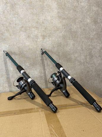 Спиннинг, удочка телескопическая, фидер, снасти для рыбалки, катушка