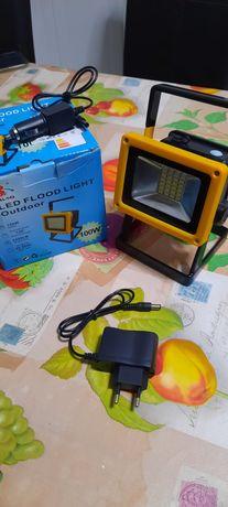 Foco projetor Led 100w outdoor a bateria