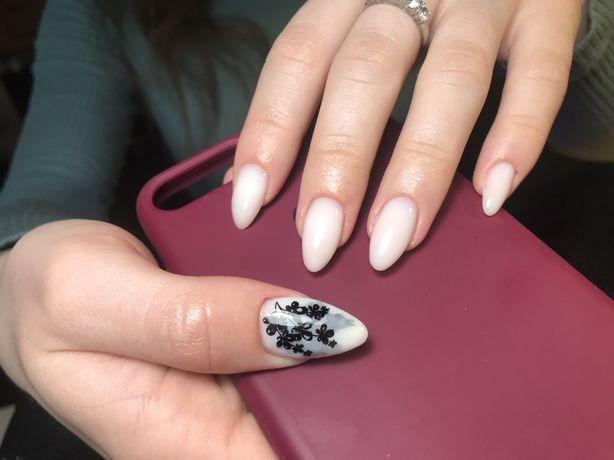 Наращивание, покрытие ногтей гель лаком