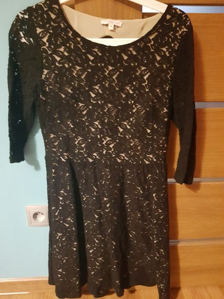 Sukienka new look czarna koronka 158-164