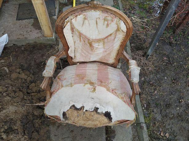 Fotel krzesło Ludwikowski Ludwik barok