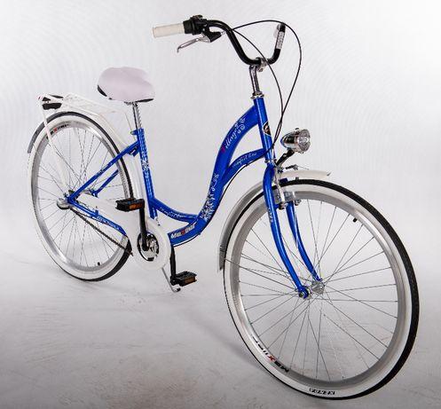 """Nowy rower (MIEJSKI/DAMSKI) Mexller Village 3-biegowy, 28"""" kobaltowy"""