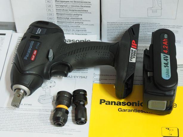 PANASONIC EY 75 A2 klucz udarowy bateria 14,4v 4,2ah -18v adapter bity