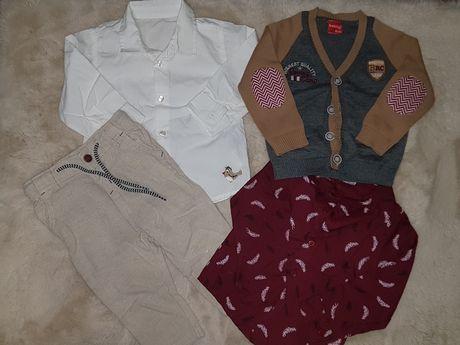 Komplet spodnie okazja chrzest koszula