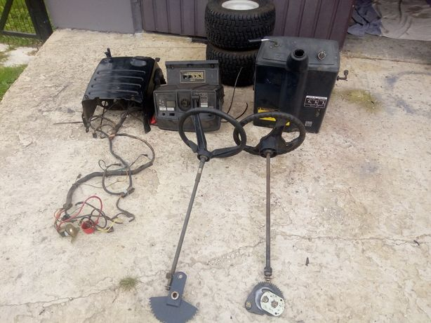 Traktorek kosiarka układ kierowniczy iseki, kokpit, koła
