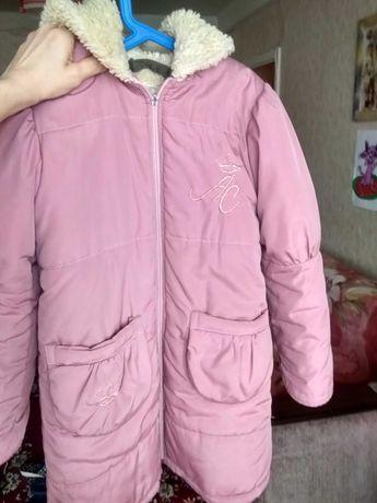 Курточка-пальто зимня 128-134