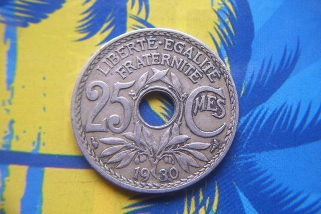 Stare monety 25 centymów 1930 Francja