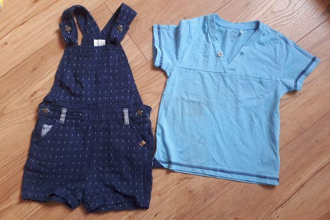 Sprzedam komplet chłopięcy (spodnie ogrodniczki+T-shirt), rozm. 98