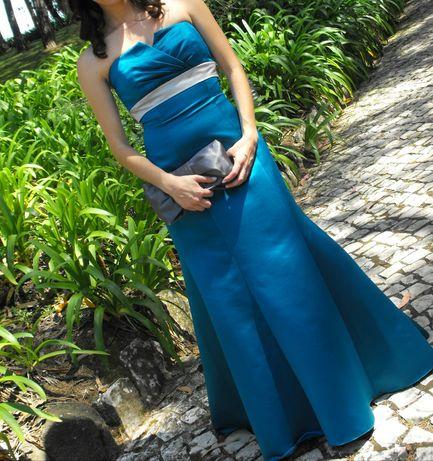 Vestido comprido de cerimonia/baile/casamento. Portes incluidos