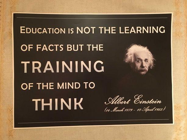 Постер про освіту знаменитого А.Ейнштейна