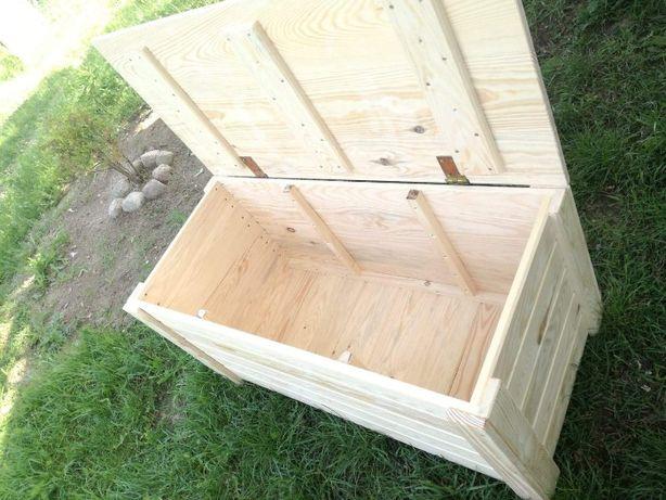 Skrzynia/skrzynka drewniana - siedzisko/ławka na taras/balkon
