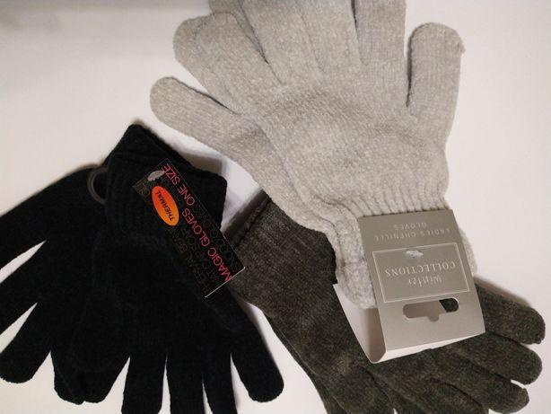 Теплые женские перчатки.велюровые.
