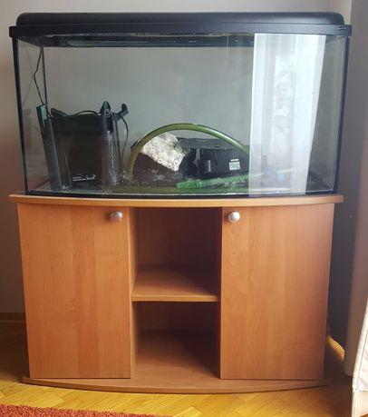 Akwarium profilowane 180l 100x40x50 z szafką  + wyposażenie