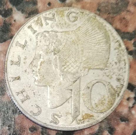 Austria 10 Schilling 1958 r. srebro 0.640 10 Szylingów