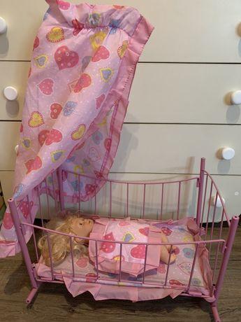 Кровать для куклы большая кроватка люлька