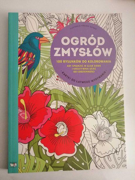 KSIĄŻKA Ogród Zmysłów 100 rysunków do kolorowania