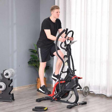 Bicicleta elíptica de fitness com tela LCD e resistência