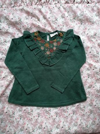 Zara piękna zielona koszula tunika bluzka 104
