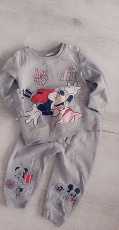 Disney baby dres szary Myszka Minnie rozmiar 80