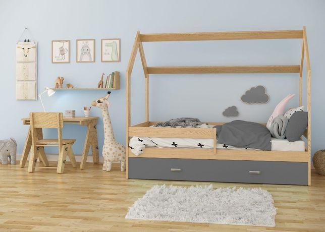 Meble Magnat łóżeczko domek D3 80x160 dziecięce drewniane sosnowe