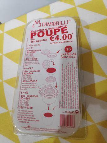 Cápsulas reutilizáveis para máquina de café Dimobilli