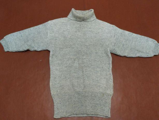 Шерстяное платье-свитер (оверсайз)