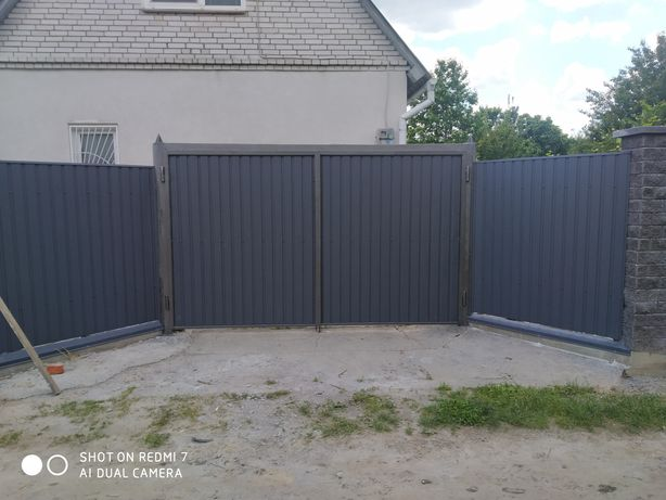 Ворота калитки заборы из профнастила