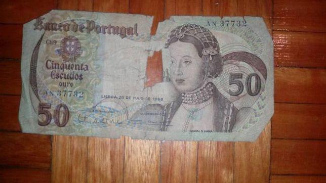 Nota 50 Escudos 1968 Infanta D.Maria