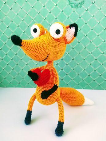 Лиса лисичка игрушка мягкая ручная работа подарок сувенир развивайка
