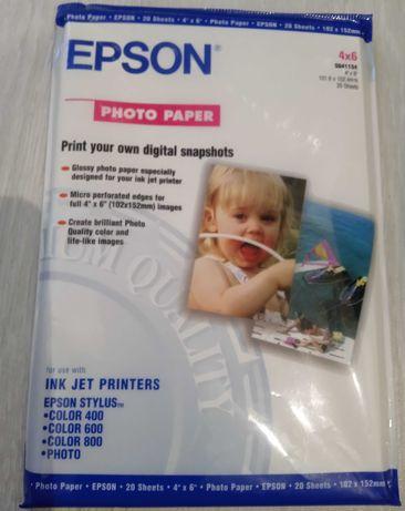 Фотобумага EPSON для цветного принтера 10х15, упаковка 20 листов