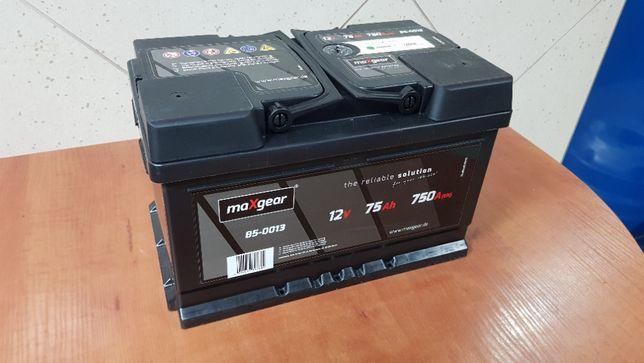 Nowy Akumulator MAXGEAR (BOSCH) 75AH 750A Montaż Lublin 71Ah 72Ah 74Ah