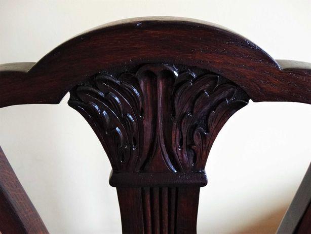 Krzesło antyczne dębowe po renowacji - Cena do negocjacji